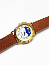 Load image into Gallery viewer, Watch it Moon Phase Watch | Beautiful Gold-tone Vintage Watch - Vintage Radar