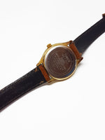 Timex Quartz Moon Phase Watch | Gold-tone Moonphase Watch - Vintage Radar
