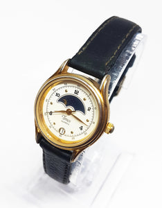 Vintage Timex Moon Phase Watch | Luxury Gold-tone Watches - Vintage Radar