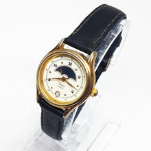 Load image into Gallery viewer, Vintage Timex Moon Phase Watch | Luxury Gold-tone Watches - Vintage Radar