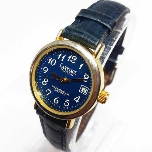 Blue Carriage Indiglo Watch For Women or Men | Timex Quartz Watch - Vintage Radar