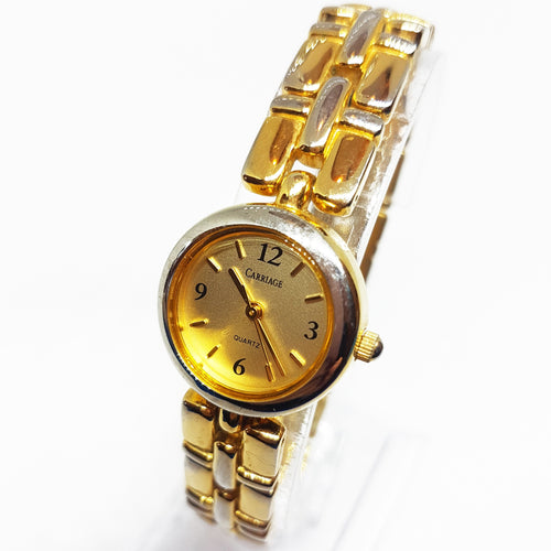 Elegant Gold-tone Carriage By Timex Watch | Luxury Wedding Watches - Vintage Radar