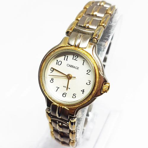 Two-Tone Indiglo Carriage Vintage Watch | Best Women's Watches - Vintage Radar