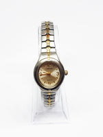 Tiny Elegant Two-Tone Carriage Vintage Watch | Timex Watches for Women - Vintage Radar