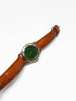 Green Dial Silver-Tone Carriage Vintage Watch | Timex Sports Watch - Vintage Radar