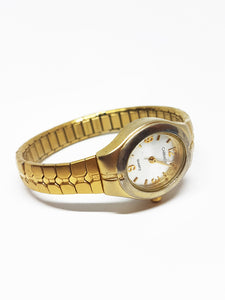 Tiny Gold-Tone Carriage By Timex Watch | Vintage Watch For Ladies - Vintage Radar