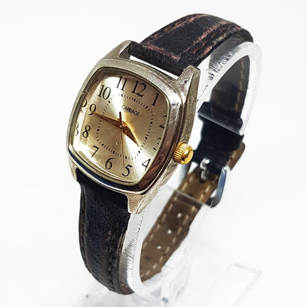 Square Silver-tone Carriage Watch For Ladies | Best Women's Watches - Vintage Radar