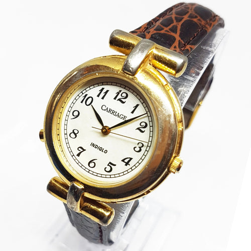 Vintage Art-deco Gold-Tone Carriage Watch | Timex Watches Collection - Vintage Radar