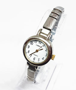 Tiny Silver-Tone Ladies Carriage Quartz Watch | Timex Watch Collection - Vintage Radar