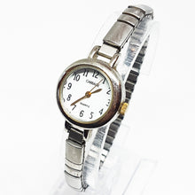 Load image into Gallery viewer, Tiny Silver-Tone Ladies Carriage Quartz Watch | Timex Watch Collection - Vintage Radar