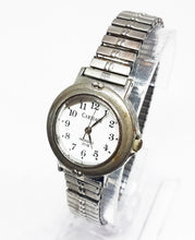 Load image into Gallery viewer, Antique Silver-Tone Carriage Indiglo Watch | Vintage Watch For Women - Vintage Radar