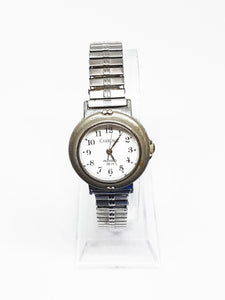 Antique Silver-Tone Carriage Indiglo Watch | Vintage Watch For Women - Vintage Radar