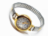 Elegant Two-Tone Carriage Watch | Vintage Fashion Watches - Vintage Radar