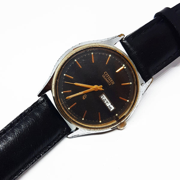 Black Dial Vintage Citizen Quartz Watch For Men | Men's Citizen Watch - Vintage Radar