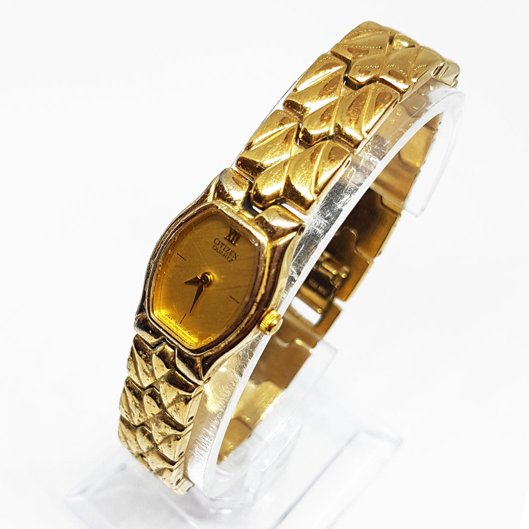 Gold-tone Elegant Citizen Watch For Ladies | Luxury Vintage Watch - Vintage Radar