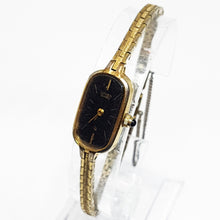 Load image into Gallery viewer, Tiny Gold-tone Citizen Quartz Watch | Black-Dial Citizen Watch For Ladies - Vintage Radar