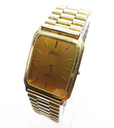 Gold-Tone Seiko Lassale Watch | Best Luxury Gift Watch - Vintage Radar