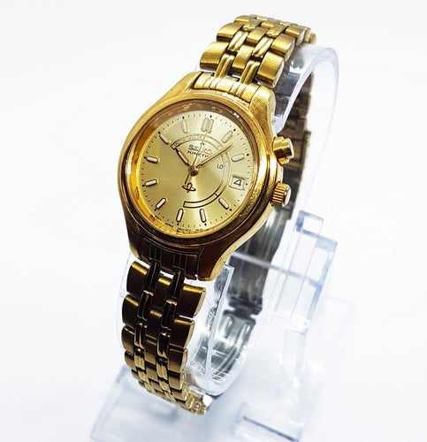Seiko Vintage Watch | Gold-Tone Kinetic Perfect Condition Men's Watch - Vintage Radar