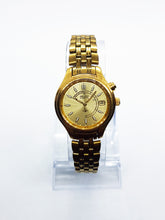 Load image into Gallery viewer, Gold Seiko Kinetic Watch for Men | Men's Sapphire Crystal Seiko Watch - Vintage Radar