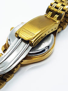 Gold Seiko Kinetic Watch for Men | Men's Sapphire Crystal Seiko Watch - Vintage Radar