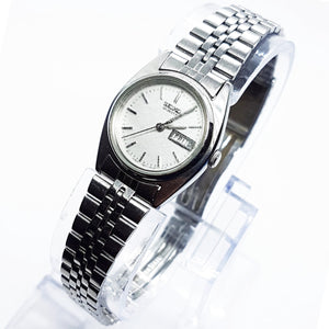 Silver-Tone 7N83-0011 Seiko Quartz Watch | Vintage Ladies Watches - Vintage Radar