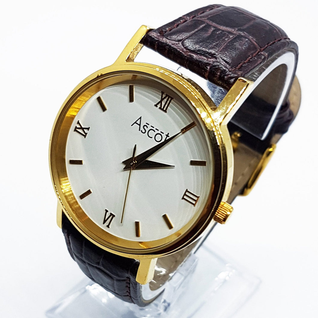 Classic Vintage Gold-Tone Ascot Watch | Ascot Occasion Wear Watches - Vintage Radar