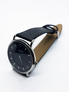 Minimalist Ascot Quartz Watch | All Black Vintage Ascot Watch - Vintage Radar