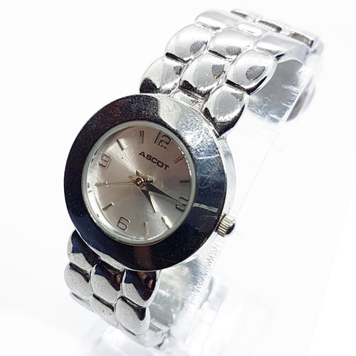 Retro Bangle Ascot Women's Watch | Silver-Tone Vintage Watch For Her - Vintage Radar
