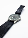 Minimalist Silver-Tone Ascot Watch for Men | Ascot Quartz Watches - Vintage Radar