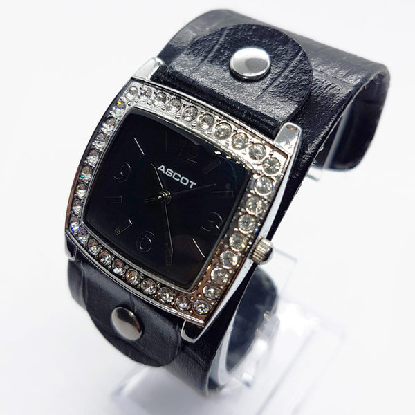Luxury Ascot Watch For Women | Silver-Tone Rhinestones Gift Watch - Vintage Radar