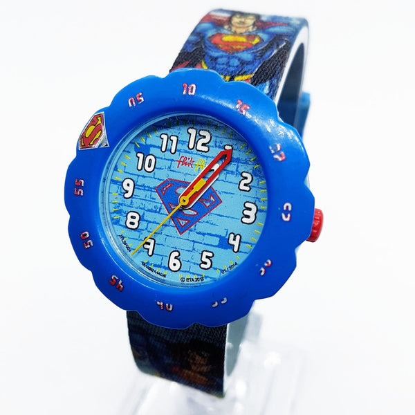 2013 Flik Flak Superman ZFLSP004 Swiss Watch for Kids | Unisex Fun Swatch Watches