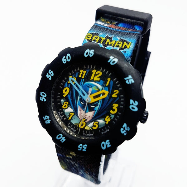 Batman DC Comics Flik Flak Swiss Watch Genuine Batman Watch ZFLS033