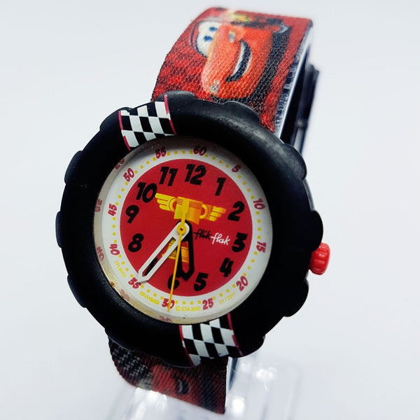 Lightning Mcqueen Flik Flak Disney Cars 95 Watch FLS019 Swiss Watch