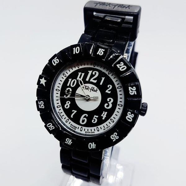 2012 Black Modern Swiss Watch | Cool Flik Flak Wristwatch después de 2000
