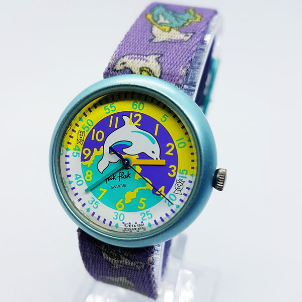 1991 Vintage Dolphin Story Time Flik Flak Watch | 90s Swatch Watches