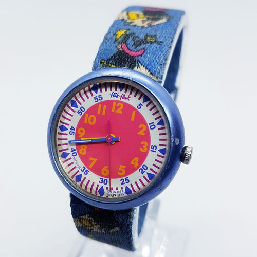 Witchcraft Swiss Made Flik Flak Watch | 1997 Halloween Basket Witch Watch