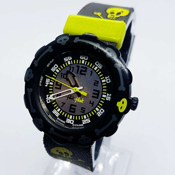 Halloween Skull Swiss made flik Flak Watch | Vintage ETA 2006 Watch