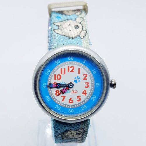 2006 Baby Husky Dog Lover Swiss-Made Watch | Husky Flik Flak Watches