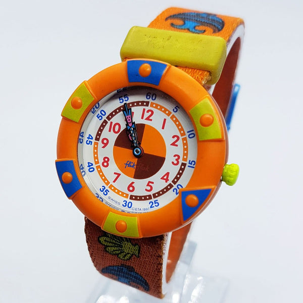 1997 Vintage Orange Flik Flak de Swatch Watch | Rare 90 Swiss Watches