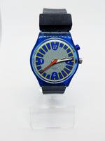 1999 ANTI-SLIP GN907 Loomi Glow Swatch Watch | Rare Cool 90s Swatch Watch - Vintage Radar