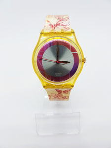 TILL THE BUTTERFLIES GE118 Red Swatch watch Vintage | Nature Swatch Watch Gift - Vintage Radar