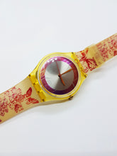 Load image into Gallery viewer, TILL THE BUTTERFLIES GE118 Red Swatch watch Vintage | Nature Swatch Watch Gift - Vintage Radar