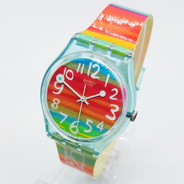 2004 Rainbow COLOR THE SKY GS124 Swiss Swatch Watch - Vintage Radar