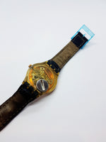 1991 Freemason Sun P.D.G. GX122 Swatch | 90s Masonic Swiss Swatch Watch - Vintage Radar