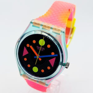 90s TOUR GL102 Swatch Watch | Electric Geometric Swiss Swatch Quartz Watch - Vintage Radar