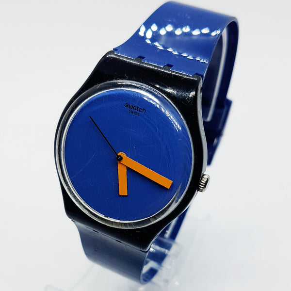2012 ORANGE'N PETROL GB268 Blue & Orange Swiss Swatch Modern Watch - Vintage Radar