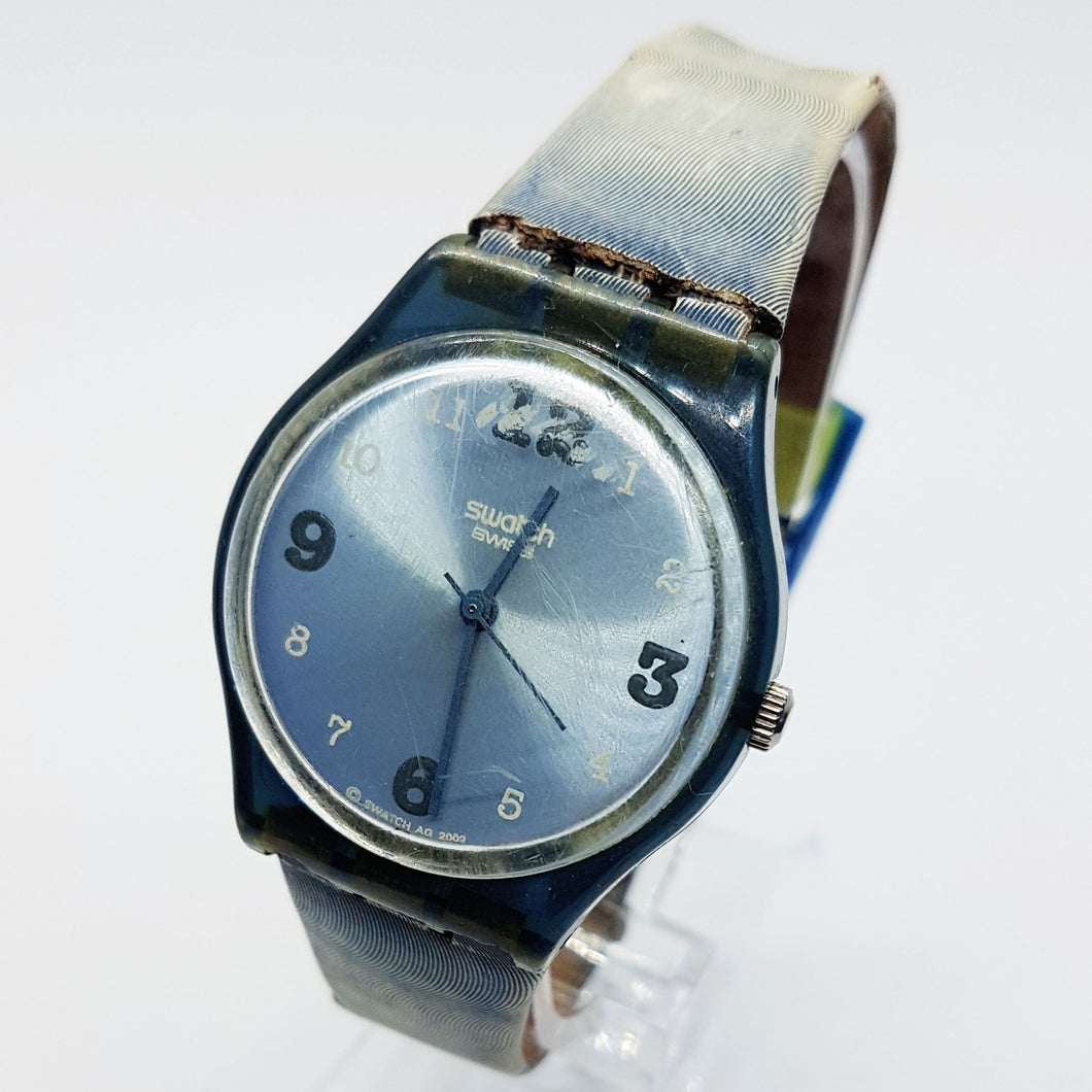 2003 SEABED GN211 Light Blue Swatch Watch | Cool Blue Minimal Swiss Watch - Vintage Radar