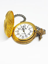 Load image into Gallery viewer, Gold Eagle Watch-it Pocket Watch | Personalized Quartz Pocket Watch - Vintage Radar