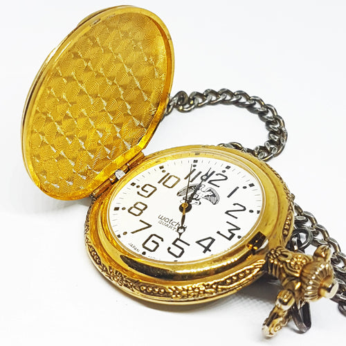 Gold Eagle Watch-it Pocket Watch | Personalized Quartz Pocket Watch - Vintage Radar