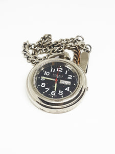 Vintage Coleman Pocket Watch | Silver-tone Industrial Pocket Watch - Vintage Radar